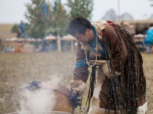 smoke gathering of shamans russia dreamstime_37838099